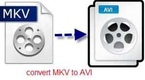 convert MKV video to AVI