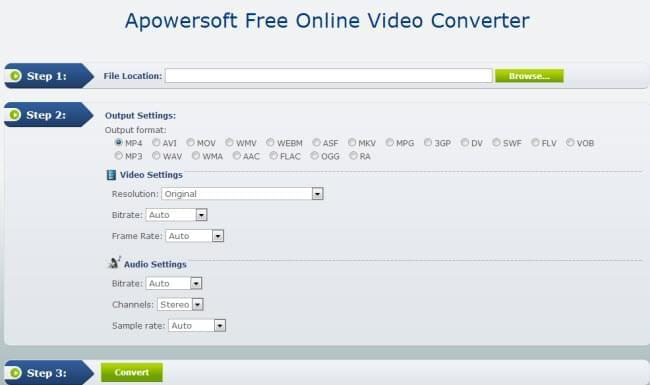 Free online video converter UI
