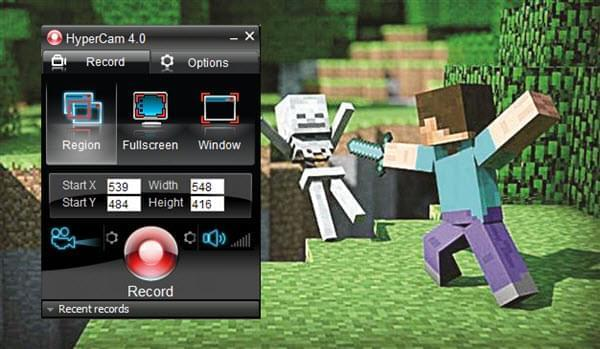 Minecraft screen recorder