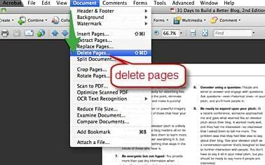 delete PDF page with Adobe Acrobat