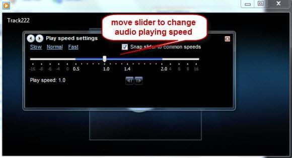 increase audio speed
