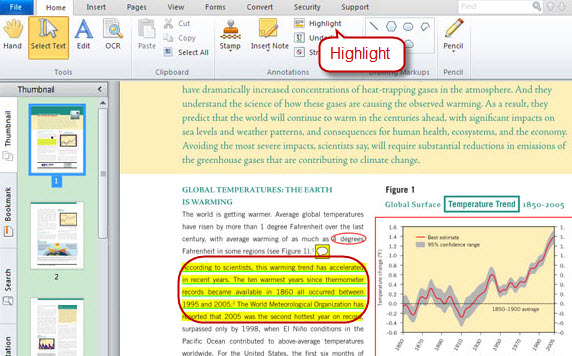 highlight text with PDF editor