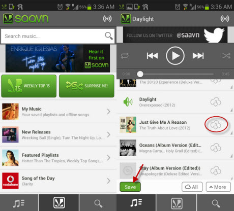Saavn pro for mobile