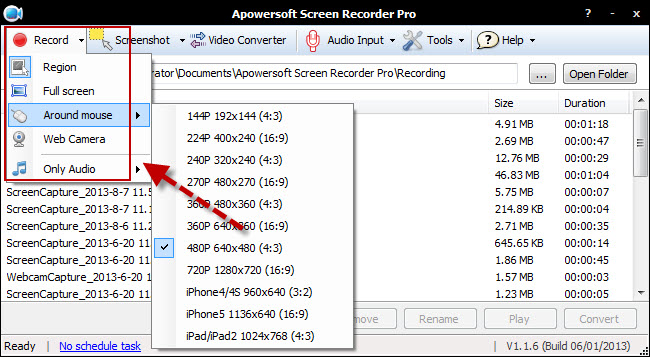 screen recorder pro record tablet screen