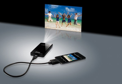 display phone screen via phone projector