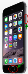 Screenshot iPhone 6 with buttons