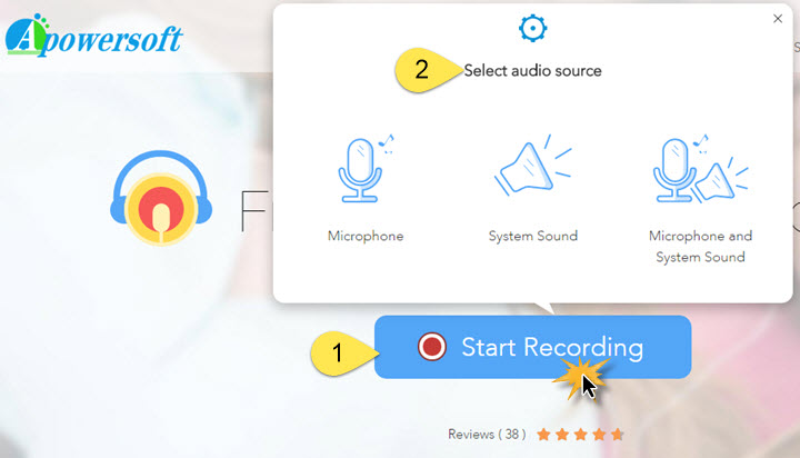 activate audio recorder