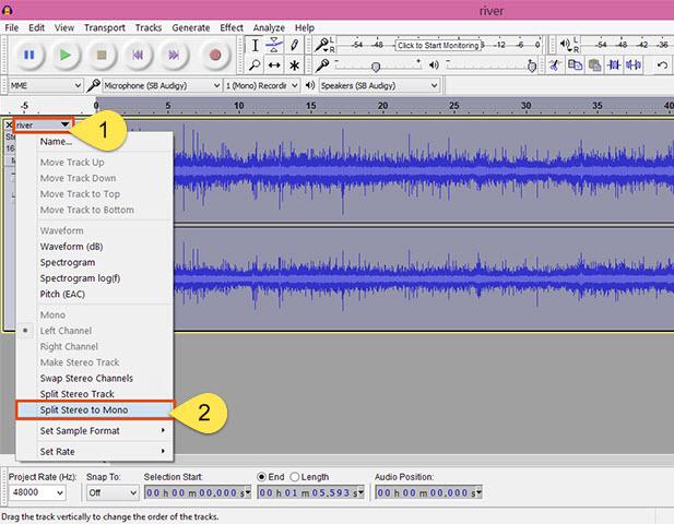 Làm thế nào để chuyển đổi stereo thành mono? Stereo-6